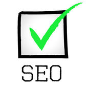 Seo Tick Shows Passed Online And Search — Stock Photo