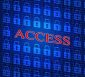 Security Access Represents Login Accessible And Unauthorized — Stock Photo