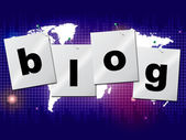 World Blog Shows Worldwide Planet And Blogger — Stock Photo