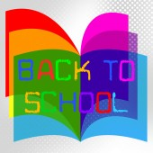 Back To School Represents Educate Educated And Train — Stock Photo