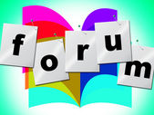 Forum Forums Indicates Social Media And Group — Stock Photo