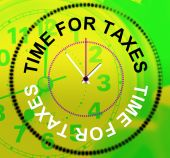 Time For Taxes Represents Levy Irs And Finance — Foto de Stock