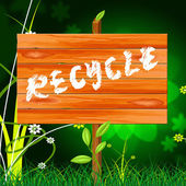 Recycle Recyclable Means Eco Friendly And Bio — Stock Photo