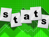 Statistics Data Indicates Stats Bytes And Reports — Stock Photo