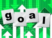 Goal Goals Represents Inspiration Objective And Aspire — Stockfoto
