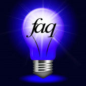 Faq Questions Represents Information Questioning And Assistance — Stock Photo