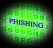 Phishing Hacked Represents Theft Hackers And Unauthorized — Stock Photo