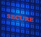 Security Secure Shows Password Encryption And Privacy — Stock Photo