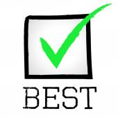 Tick Best Represents Checkmark Unbeatable And Optimal — Stock Photo