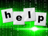Advice Help Represents Solution Assisting And Helping — Stock Photo