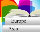 Books Travel Indicates Asia Voyage And Fiction — Stock Photo