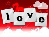 Heart Love Represents Valentine Day And Compassionate — Stock Photo