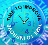 Time To Improve Means Improvement Plan And Growth — Stockfoto