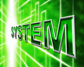 System Technology Represents High-Tech Systems And Digital — Stock Photo