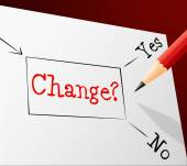 Choice Change Means Reforms Changed And Path — Stockfoto