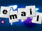 Emails Email Indicates Send Message And Communicate — Stock Photo