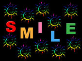 Colorful Smile Represents Happiness Colors And Jubilant — Stock Photo