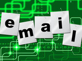 Emails Email Shows Send Message And Correspond — ストック写真