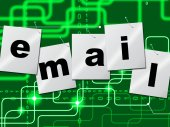 Emails Email Shows Send Message And Correspond — Foto Stock