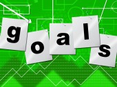 Goals Targets Means Plans Aspirations And Aims — Stock Photo