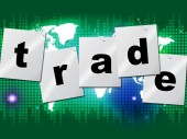 Trading Trade Means Commerce Buy And Exporting — Stock Photo