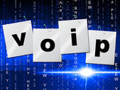 Voip Communication Represents Internet Telephony And Communicate — Stock Photo
