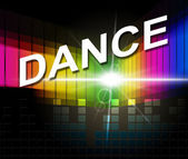 Dance Music Indicates Sound Track And Soundtrack — Foto de Stock