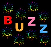 Kids Buzz Indicates Public Relations And Child — Stock Photo
