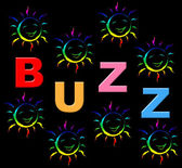 Kids Buzz Indicates Public Relations And Child — Stok fotoğraf