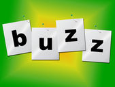 Buzz Word Indicates Public Relations And Publicity — Stock Photo