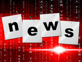 News Media Shows Radios Article And Headlines — Stock Photo