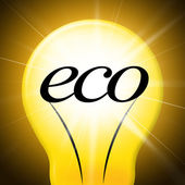 Eco Friendly Shows Go Green And Earth — Stock Photo
