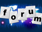 Forum Forums Means Social Media And Communication — Stock Photo