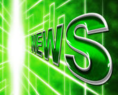 Online News Represents World Wide Web And Article — Stock Photo