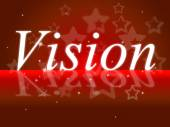 Goals Vision Indicates Aspire Prediction And Objectives — Stock Photo