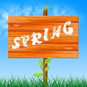 Nature Spring Shows Seasons Environmental And Countryside — Stock Photo