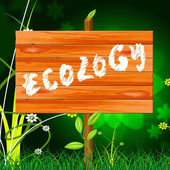 Ecology Eco Indicates Earth Day And Eco-Friendly — Stock Photo