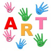 Kids Art Represents Children Youngster And Youngsters — Stock Photo