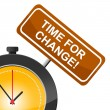 Time For Change Indicates Difference Rethink And Revise — Stock Photo #54205225