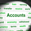 Accounting Accounts Represents Balancing The Books And Accountant — Stock Photo #54205337
