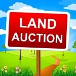 Land Auction Indicates Winning Bid And Auctioning — Stock Photo #54205591