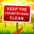 Keep Countryside Clean Means Pristine Clear And Landscape — Stock Photo #54205643