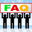 Frequently Asked Questions Means Answer Info And Asking — Stock Photo #54205817