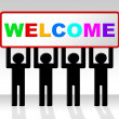Welcome Hello Means How Are You And Arrival — Stock Photo #54205977