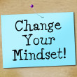 Change Your Mindset Represents Think About It And Reflect — Stock Photo #54206015