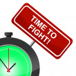 Постер, плакат: Time To Fight Represents Exchange Blows And Attack