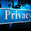 Private Sign Indicates Secrecy Confidentiality And Confidential — Stock Photo #54206091
