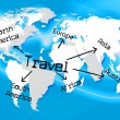 Worldwide Travel Represents Traveller Globally And Journey — Stock Photo #54206253