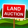 Land Auction Shows Winning Bid And Acres — Stock Photo #54206431