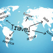 Worldwide Travel Means Tours Voyage And Traveller — Stock Photo #54206445